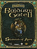 The retro game Baldur's Gate 2 : Shadows of Amn on pc.