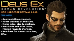 Hardcore Revival Vgrog is a mod for Deus Ex Human Revolution which improves the gameplay.