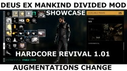 Amount of praxis kits to enable Adam Jensen's Augmentation (MOD Hardcore Revival 1.01 for Deus Ex Mankind Divided).