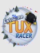 The racing game Extreme Tux Racer on Linux.