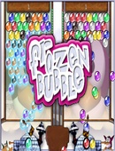 The game Frozen Bubble on Linux.