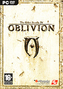 The RPG game Elder Scrolls Oblivion on pc.