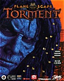 The video game Planescape : Torment on pc.