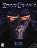 The strategy game Starcraft on pc by Blizzard software.