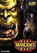The strategy game Warcraft on pc.